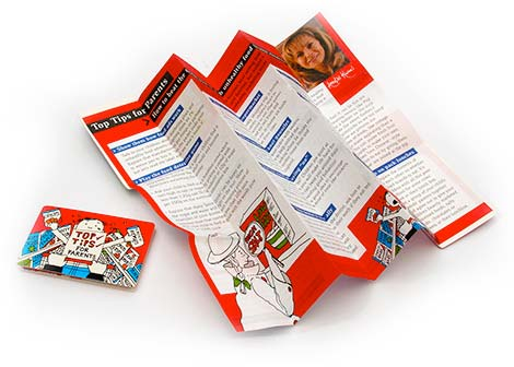 Fold-up and pocket sized media design and production