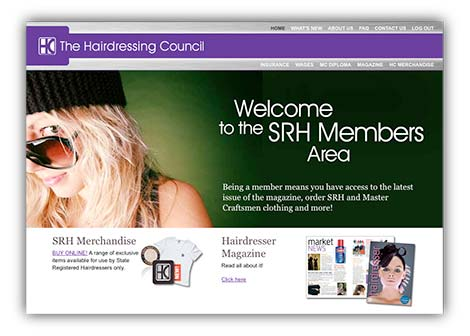 Hair Council website design
