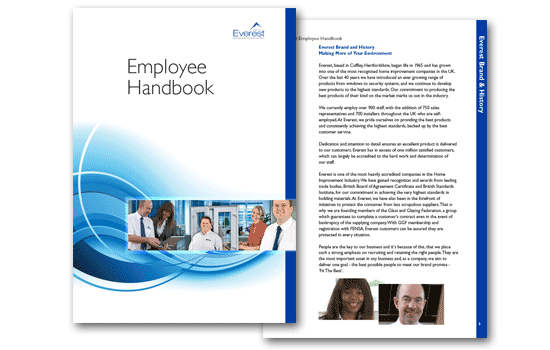 Staff Handbook Design and printing