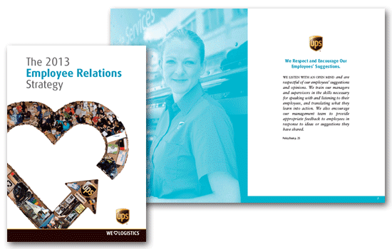 A5 short run digital employee handbook design