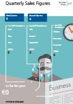 Sample Sales chart poster Design